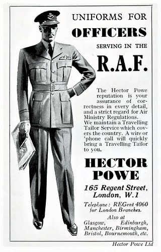 08 — - The RAF Officer's uniform in particular, fostered a patriotic affection for Hector Powe that reverberated beyond fashion.Hector Powe's famous RAF Officer's Uniform
