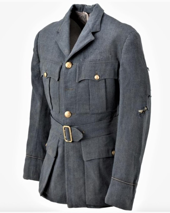 09 — - This jacket was worn by Pilot Officer Frederick Harrold, a Hurricane pilot who was killed in action during the Battle of Britain.Hector Powe RAF Pilot's Uniform in the Imperial War Museum, London