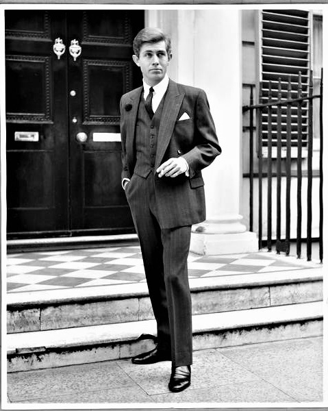 """14 — - Following the death of Hector Powe, the house was led by his younger brother, Lungley Powe, through the 1960s.Sharing his brother's vision, Lungley was determined that Hector Powe would once again change the silhouette of English tailoring to meet the needs of the Modern Gentleman.Lungley invited these gentlemen to """"Quietly join the Hector Powe revolution"""".""""Business Lunch"""", Hector Powe advertisement, 1962"""