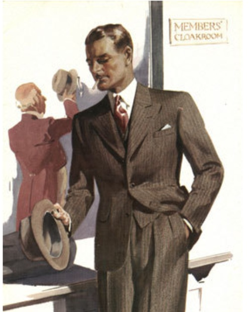04 — - Hector was then joined by his two younger brothers, Lungley and Leslie, which helped give the business a distinctly family feel at their new Regent Street headquarters.Single Breasted Lounge Suit advertisement – 1936