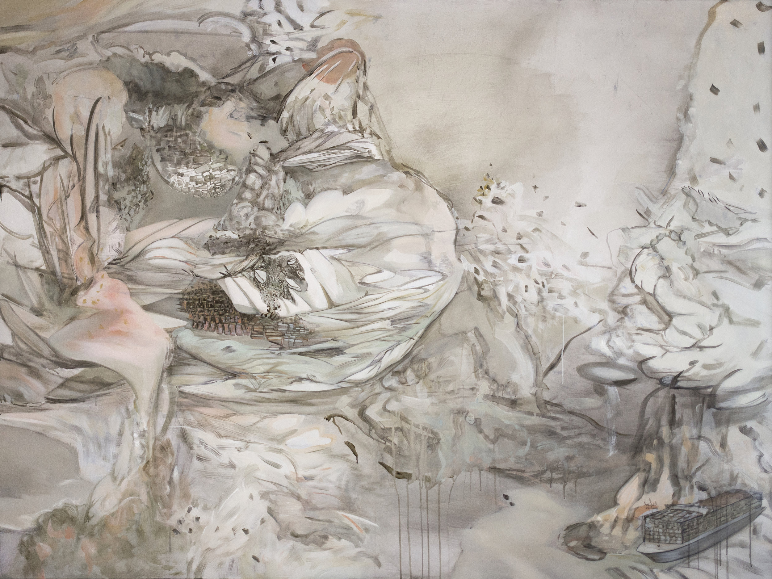 SHANSHUI SERIES NO. 2 PASSAGE, 2018  water-mixable oil on canvas  200 x 150 cm