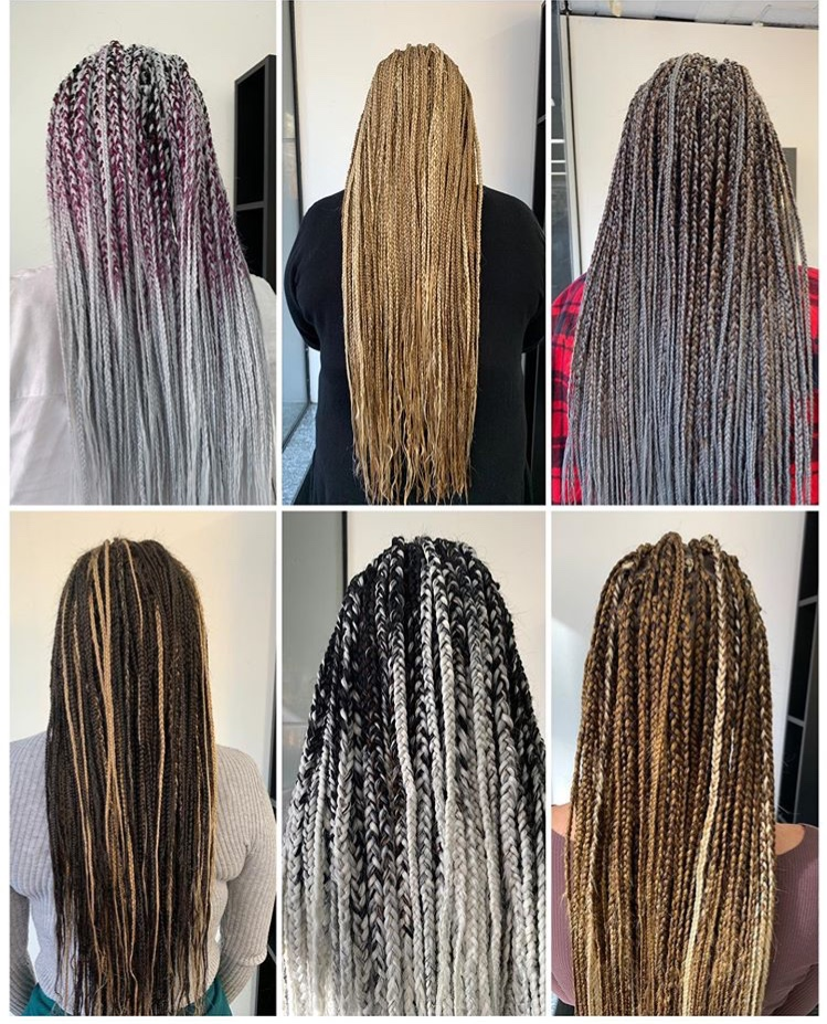 BRAIDING - BRAIDING SHORT FROM $550BOXY BRAIDS FROM $650BRAIDS LONG FROM $750BRAIDS PICK AND DROP FROM $550BRAIDS MICRO THIN FROM $850