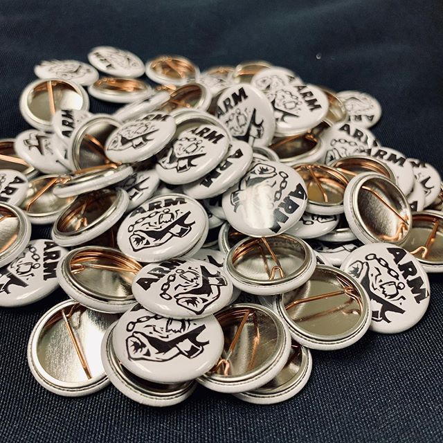 @mmbuttonco shipped our first batch of buttons! Inquire in person please! #acab #ftp #abolitionist #oi #nomoreprisons