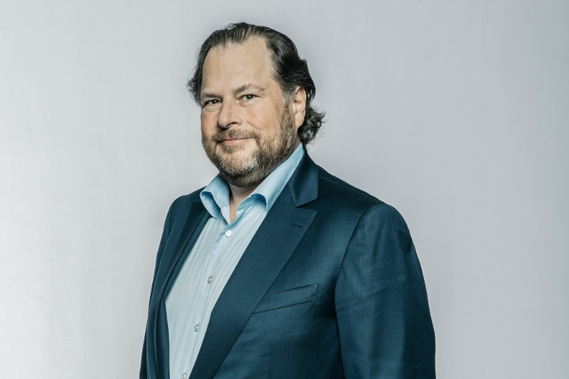 Marc Benioff is the CEO of Salesforce. And he's using his clout to lead on climate. Photo: Matt Edge, The New York Times