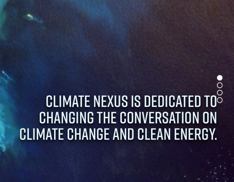 Climate nexus - Nexus Hot News is a morning shot of global climate impacts, innovation, market activity, analysis, and news. Subscribe here. Categories include Top Stories and Denier Round-Up. Follow @ClimateNexus on Twitter and Instagram. Its offspring @ClimateSignals, is currently in beta: http://www.climatesignals.org