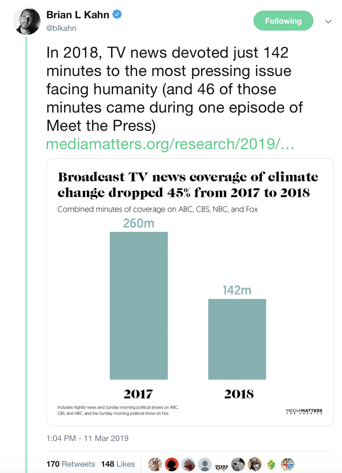 Ask your favorite news outlet to devote more coverage to climate change. -