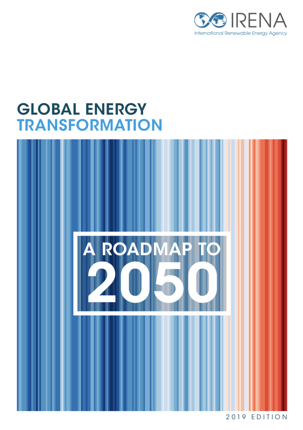 """GLOBAL ENERGY TRANSFORMATION: A ROADMAP TO 2050. INTERNATIONAL RENEWABLE ENERGY AGENCY - """"Renewable energy could meet 86% of global power demand by 2050, IRENA concludes."""" 9 April 2019, source edie newsroomIf policymakers, businesses and investors across the world collaborate to scale-up renewable energy and to electrify sectors such as transport and heavy industry, 86% of the global power demand could be met with clean energy by 2050, new research from the International Renewable Energy Agency (IRENA) has found. Download the report here."""