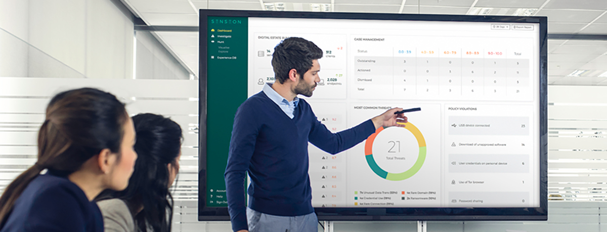 Senseon's Dashboard view provides a holistic overview across the entire organisation