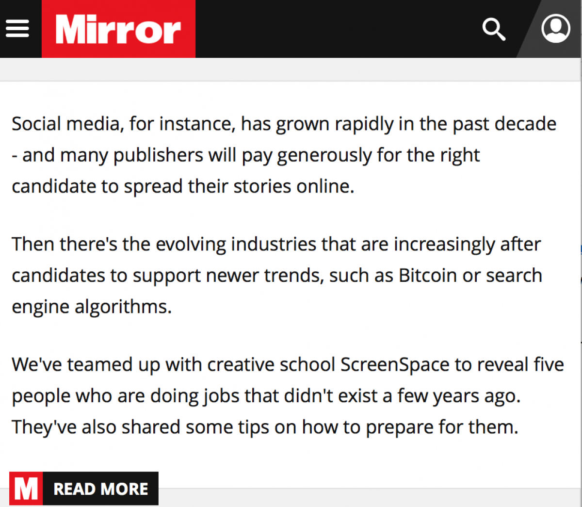 The Mirror: ScreenSpace