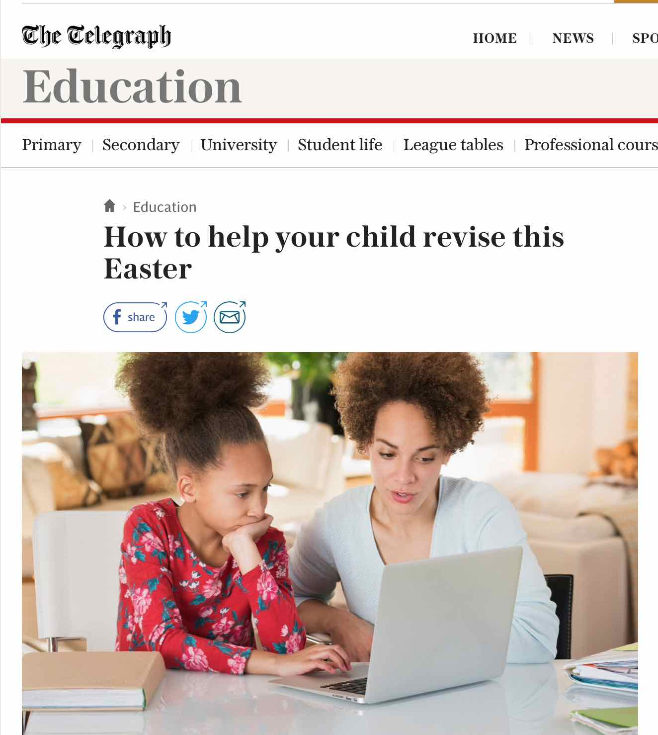 EMPRA's Ruth in The Telegraph