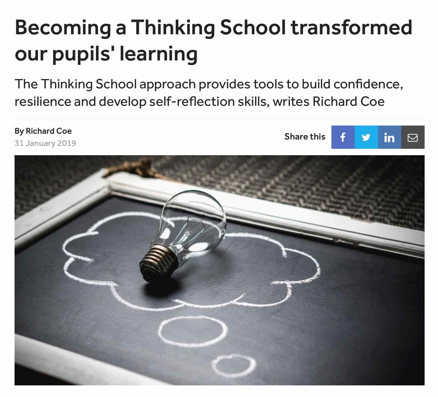 TES: Thinking Matters