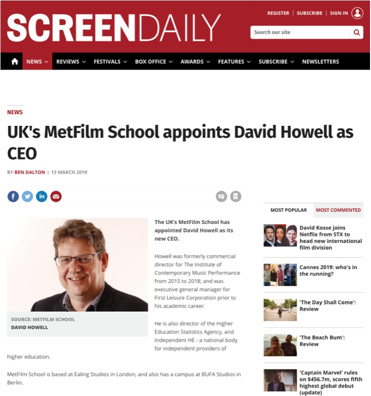Screen International: Metfilm School