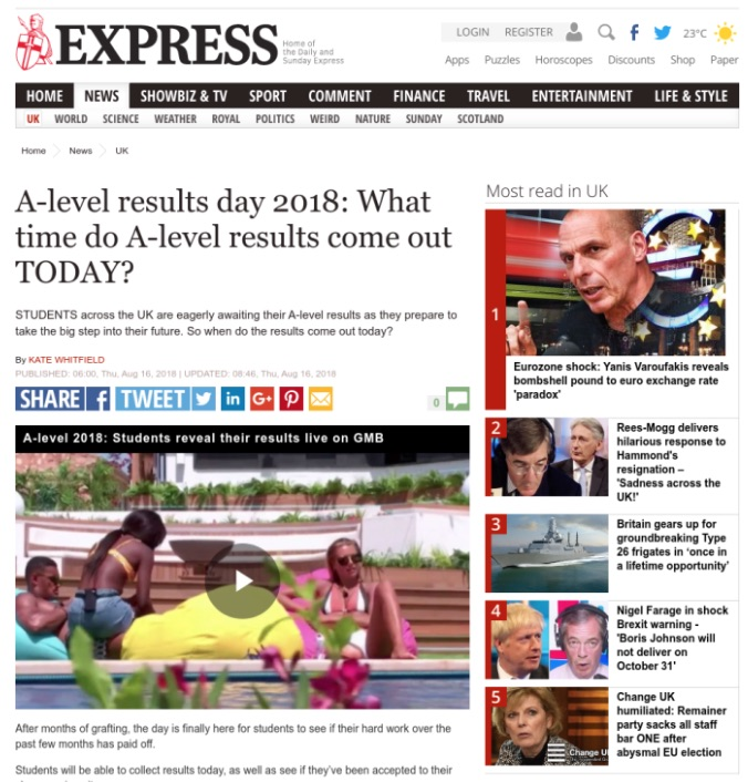 ScreenSpace in The Express