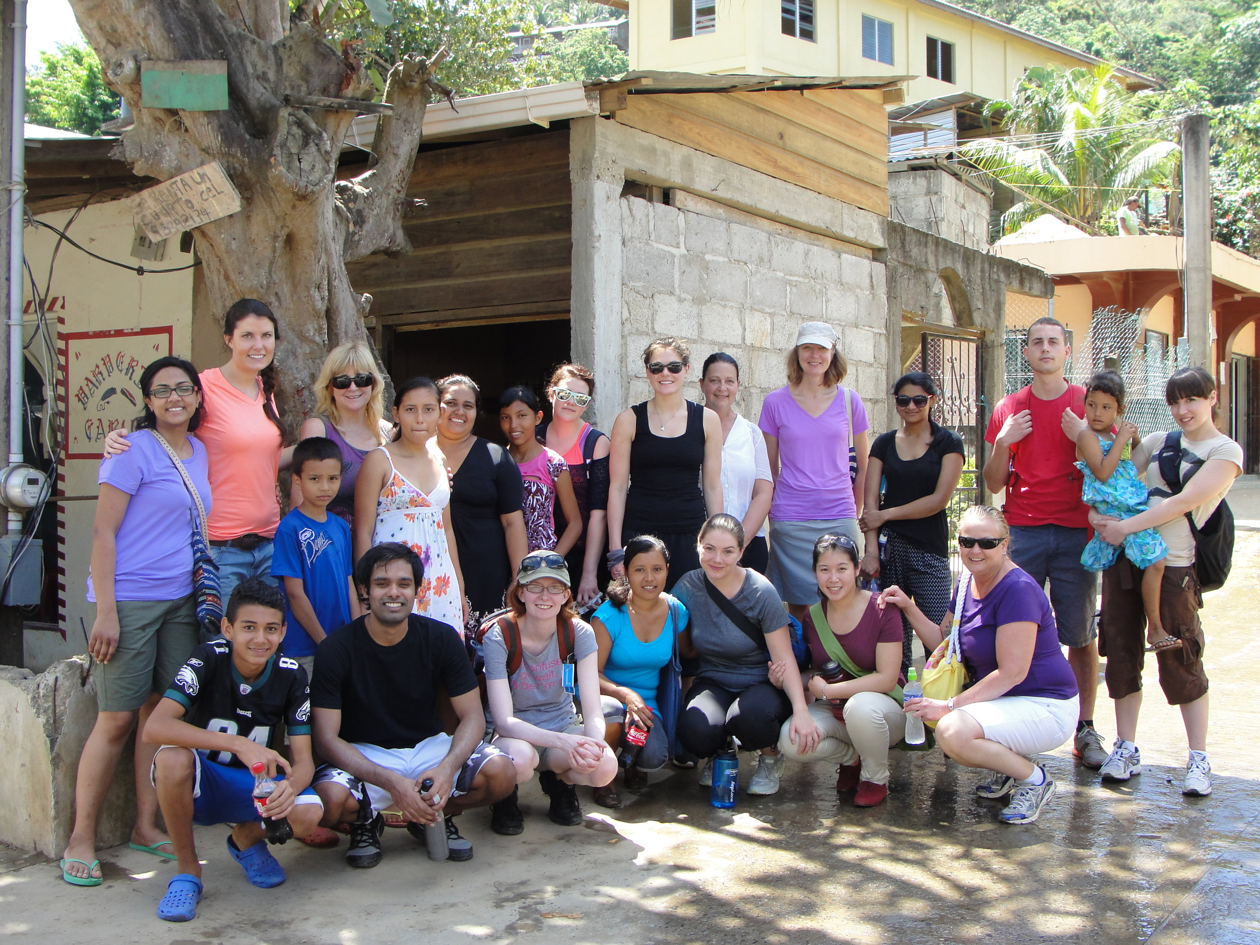 Image courtesy Centennial College whose students worked in community development projects in Honduras.