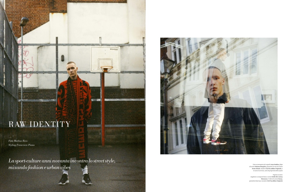 RAW IDENTITY by Markus Rico - Fashion Editorial shot for L'Officiel Hommes