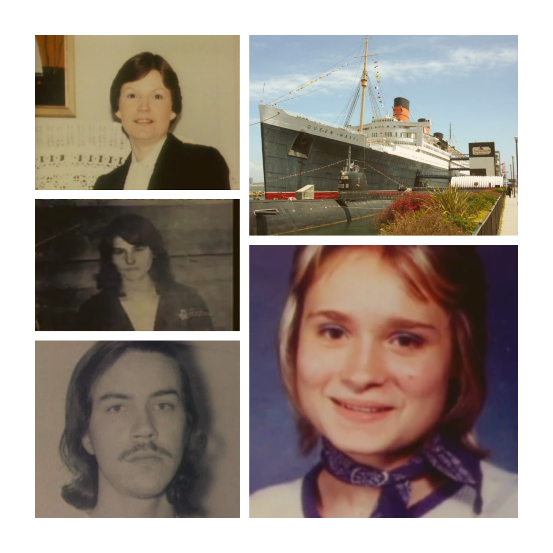 Clockwise: Gail DeLano, The Queen Mary, Roxanne Woodson, Joe Sheperd, Cathy Clowers