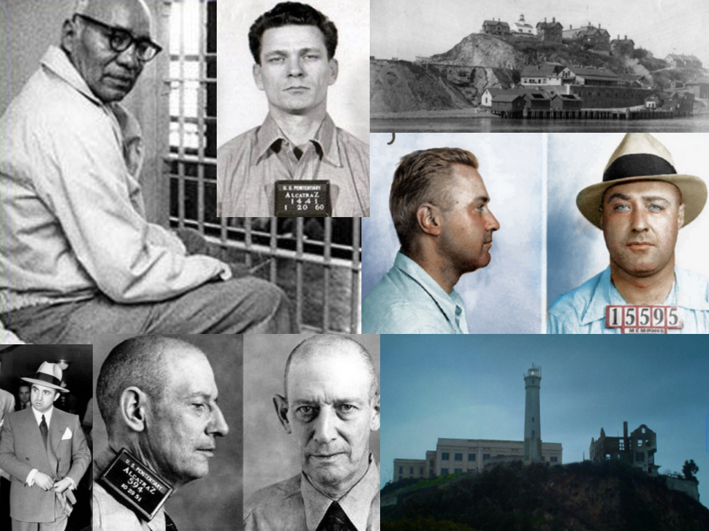 All photos are from unsolved.com unless otherwise noted. Clarence Carnes via ranker.com, Frank Morris via ranker.com, Alcatraz Island in 1895 via wikipedia.com, George Machine Gun Kelly via alcatrazhistory.com, Alcatraz Burned Out via wikipedia.com, Robert Franklin Stroud via ranker.com, Mickey Cohen via ranker.com