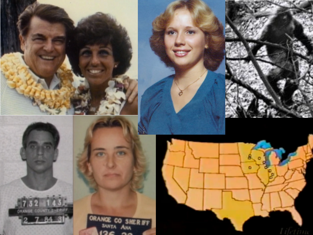 All photos are from unsolved.com unless otherwise noted.  Clockwise: Mickey & Trudy Thompson, Joyce McLain, Bigfoot, George J. Stein's bank account locations, Sharon and Michael Wade Mohon