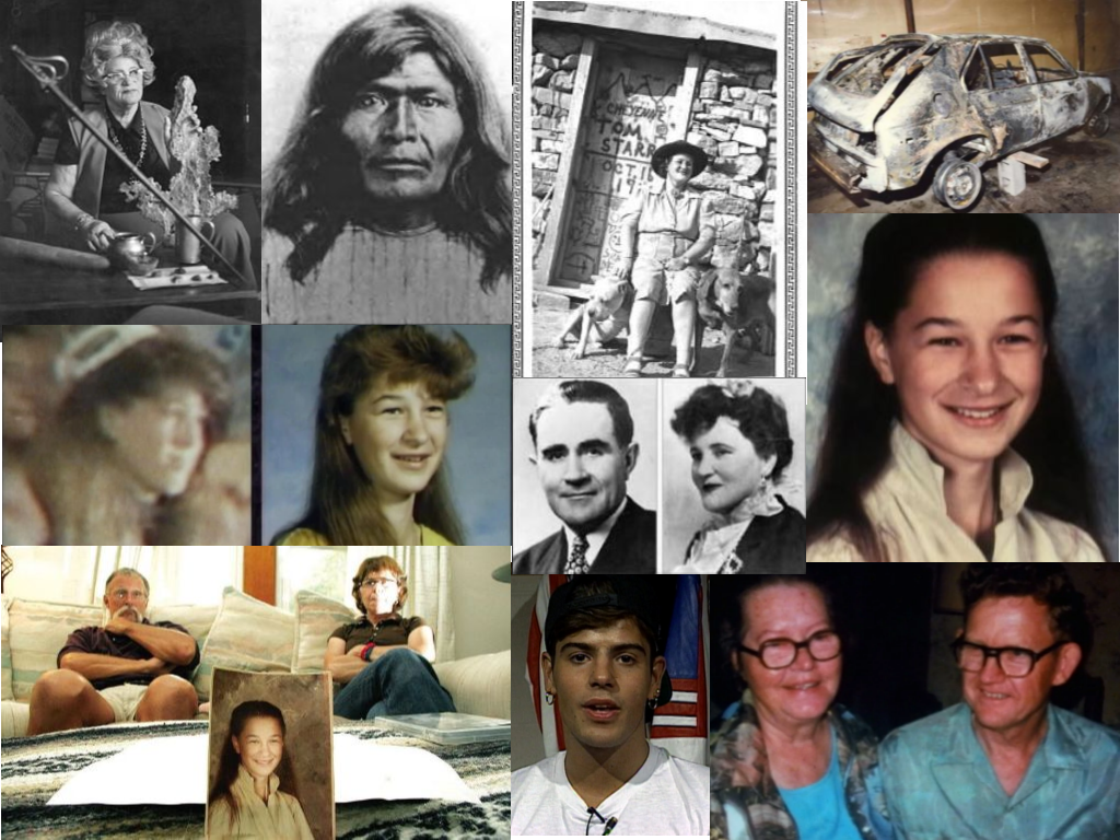 All images are from Unsolved Mysteries unless otherwise noted. Clockwise: Babe Noss (www.cincopuntos.com), Victorio (mcguires.com), Dexter Stefonek's burnt car (billingsgazette.com), Kari Lynn Nixon, Vivian & Dexter Stefonek, Jordan Knight, Kathy and Gary Nixon--Kari's parents in 2007 (PressRepublican.com), Comparison mage of girl at the New Kids on the Block Concert & Kari Lynn Nixon Center: Doc & Babe Noss
