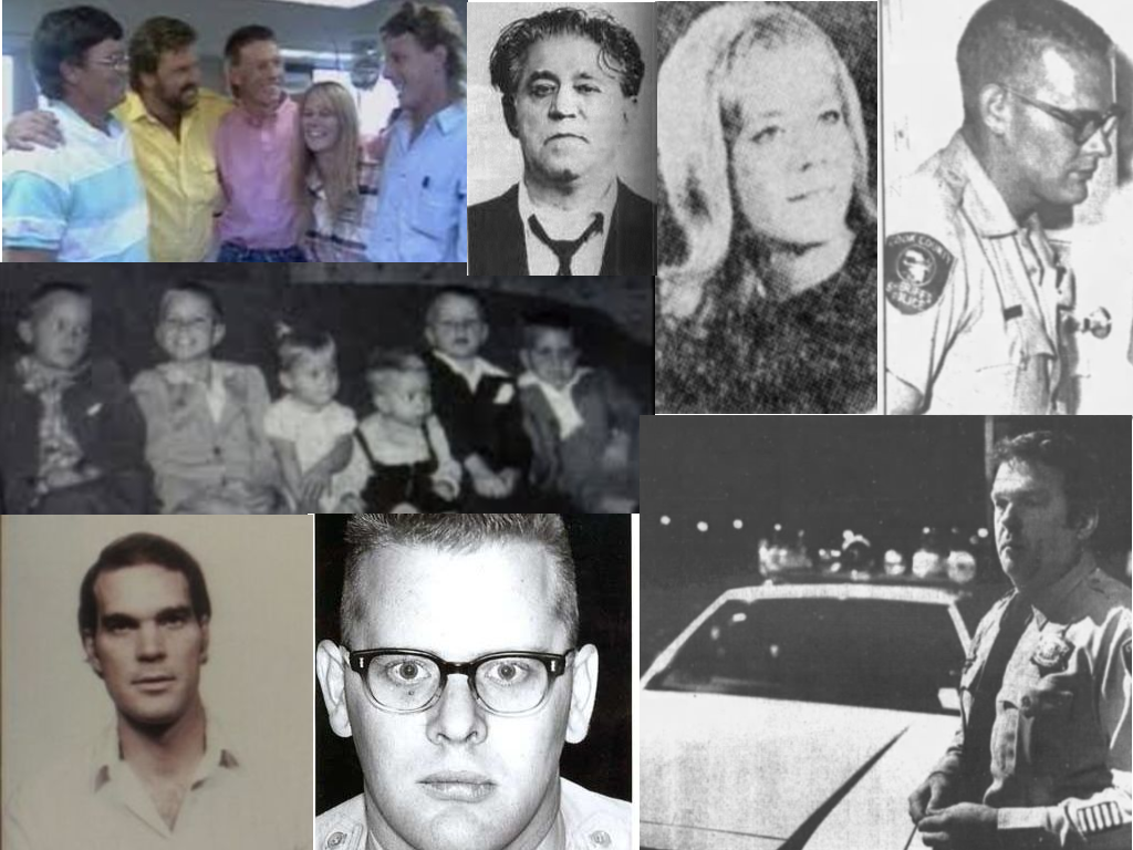 All images are from Unsolved Mysteries unless otherwise noted. Clockwise: Rogers Children reunited, 'Mad' Sam DeStefano (wikipedia.com), Anna Marie Anton, Ralph Probst in 1966 (Gerald West Chicago Tribune March 5, 1987) Bob Borowski (Gerald West Chicago Tribune_ March 5, 1987, Ralph Probst (findagrave.com), Gregory Webb, The Rogers children