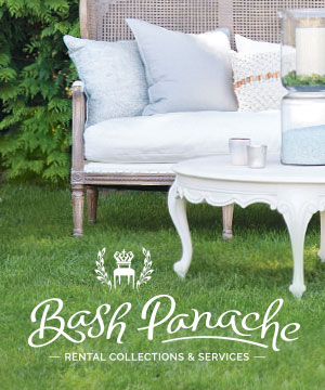 Bash Panache - Bash Panache offers beautiful furniture and decor rentals and services for special events—grand or intimate, serving the GTA and beyond.Email: info@bashpanache.comContact: Wendy ReimerPhone: (416) 569.4170Website: www.bashpanache.cominstagram ~ facebook