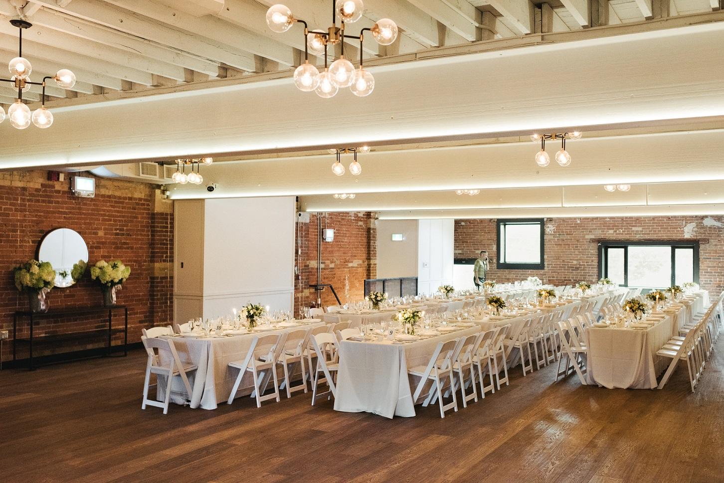 Lincoln Hall - Long Tables set up.JPG