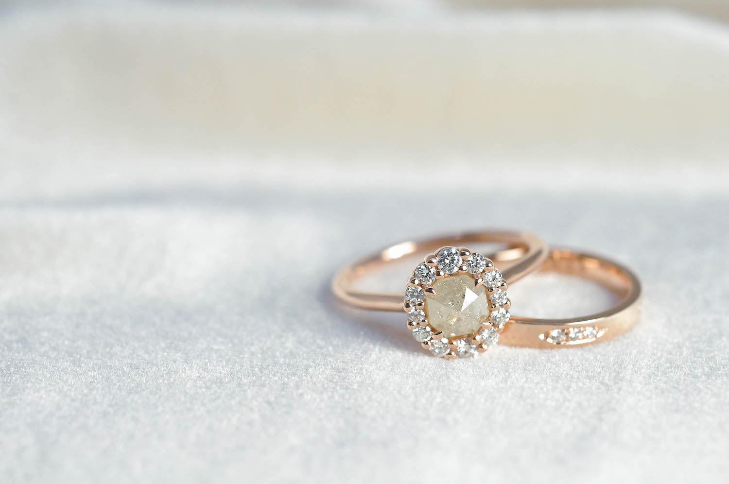 Alternative Rose Gold Engagement Ring and Wedding Band.jpg