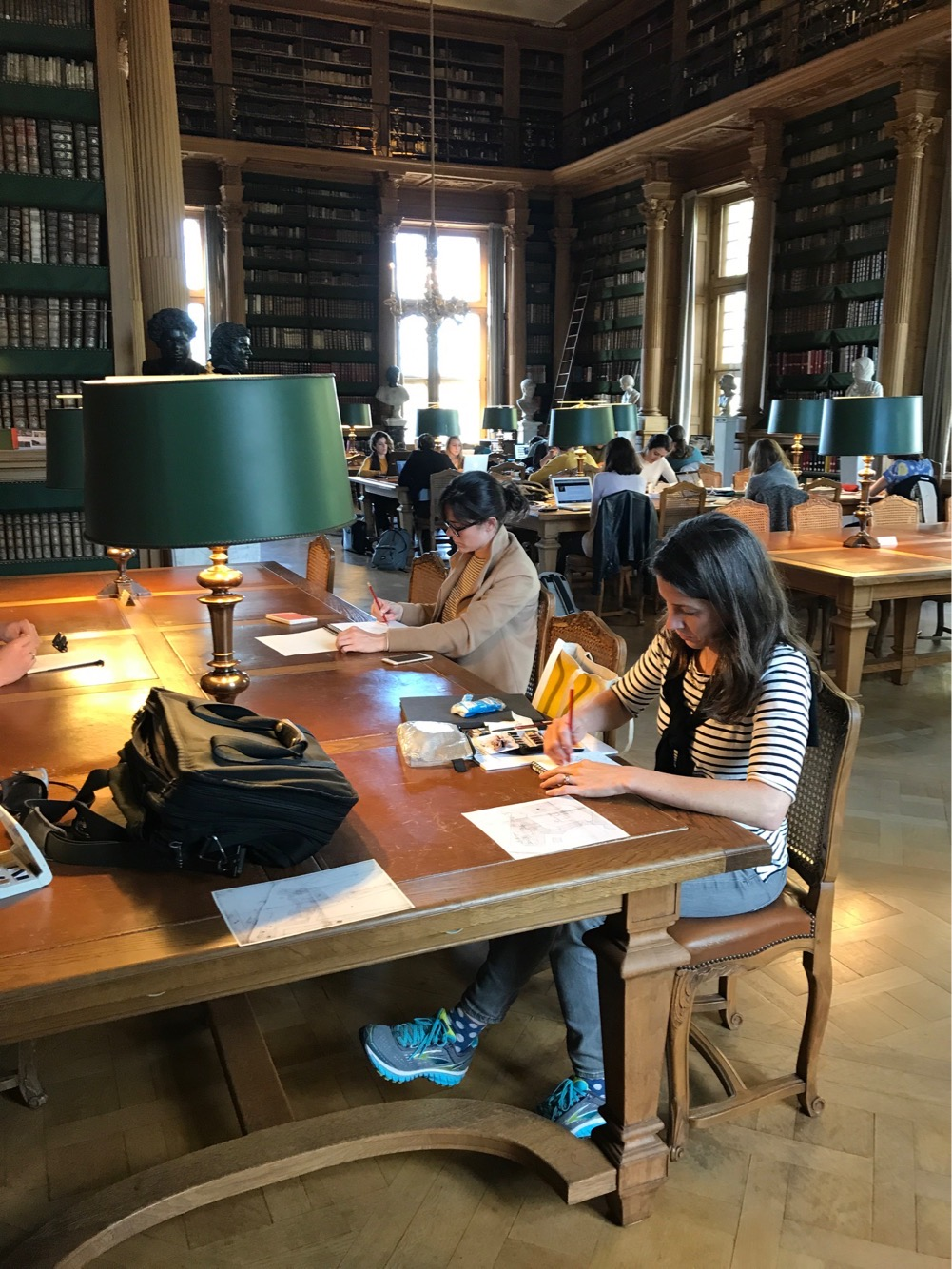 Drawing & watercolor at Bibliothèque Mazarine