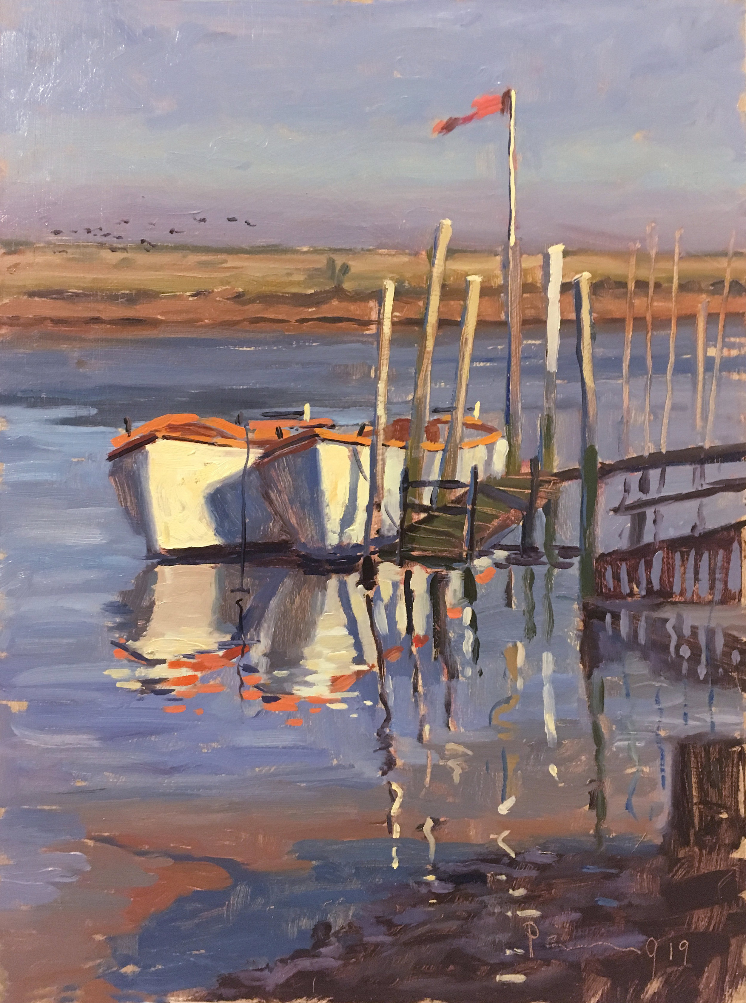 Two Boats and a Flag, Morston
