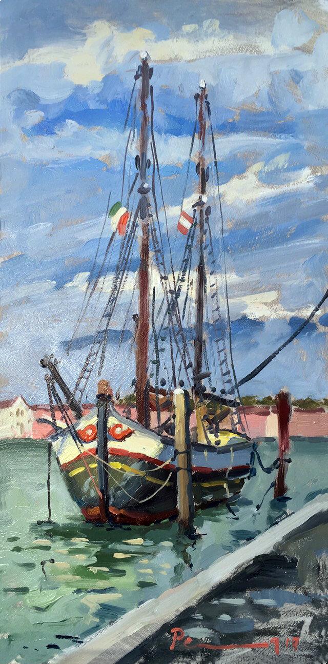 Boat by Santa Maria della Salute