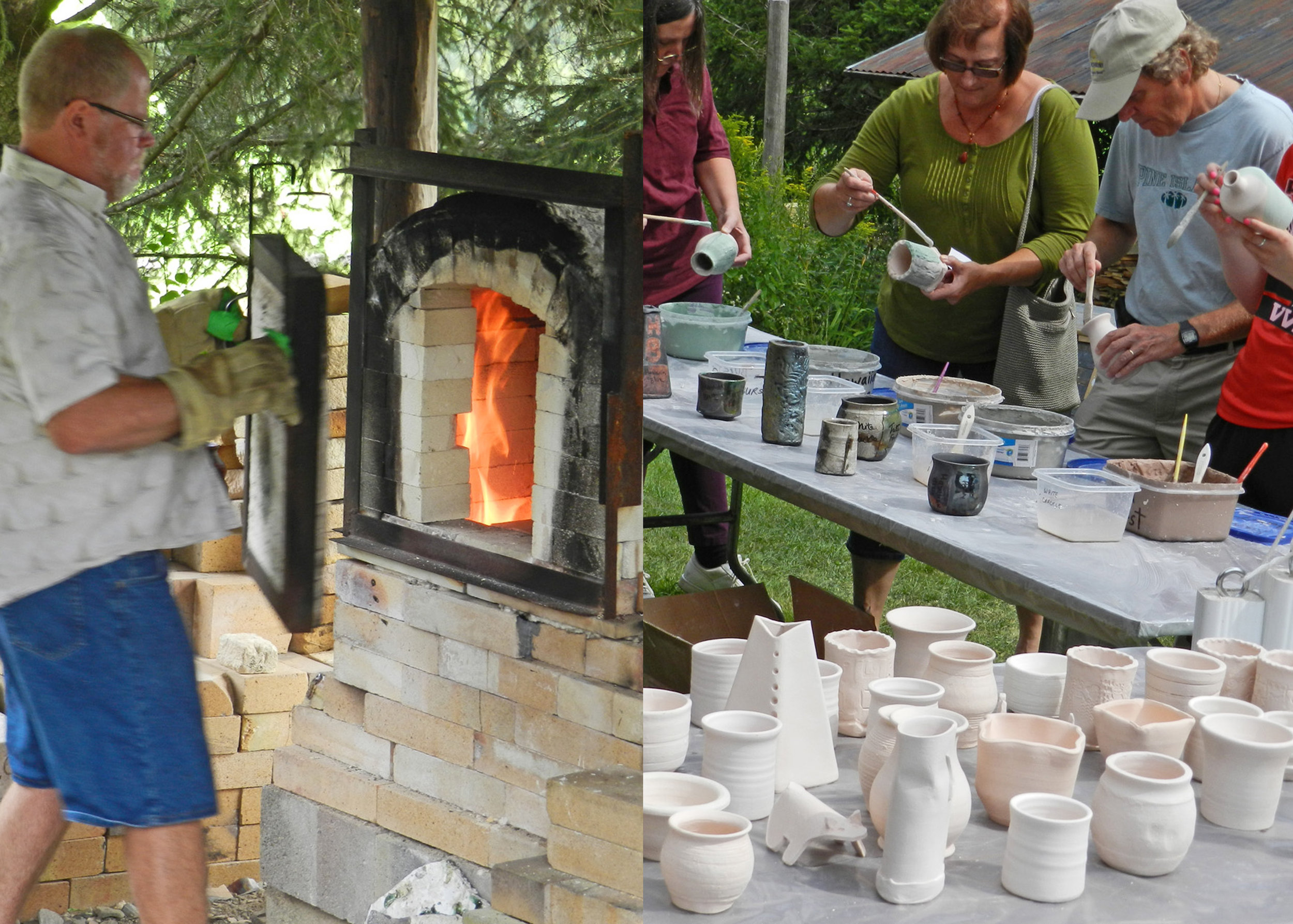 Glaze Your Own pottery and watch it fired on site