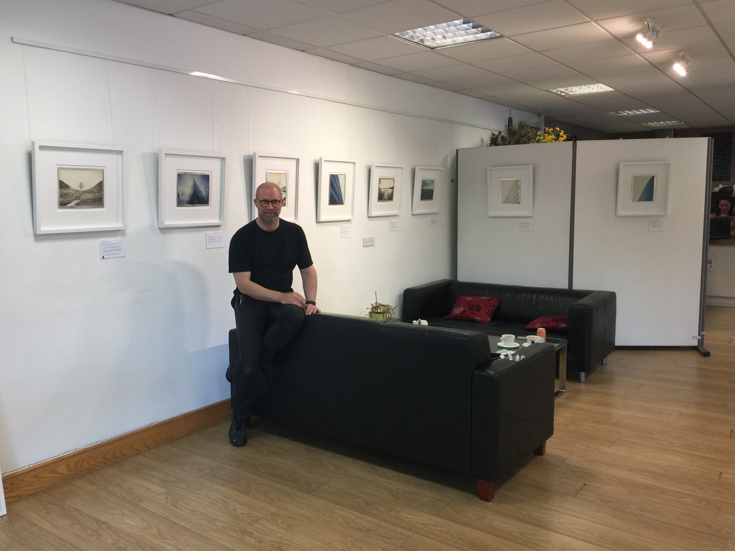 After hanging 25 Original Large Format 8x10 inch polaroids on 12th July 2018 ready for opening night.