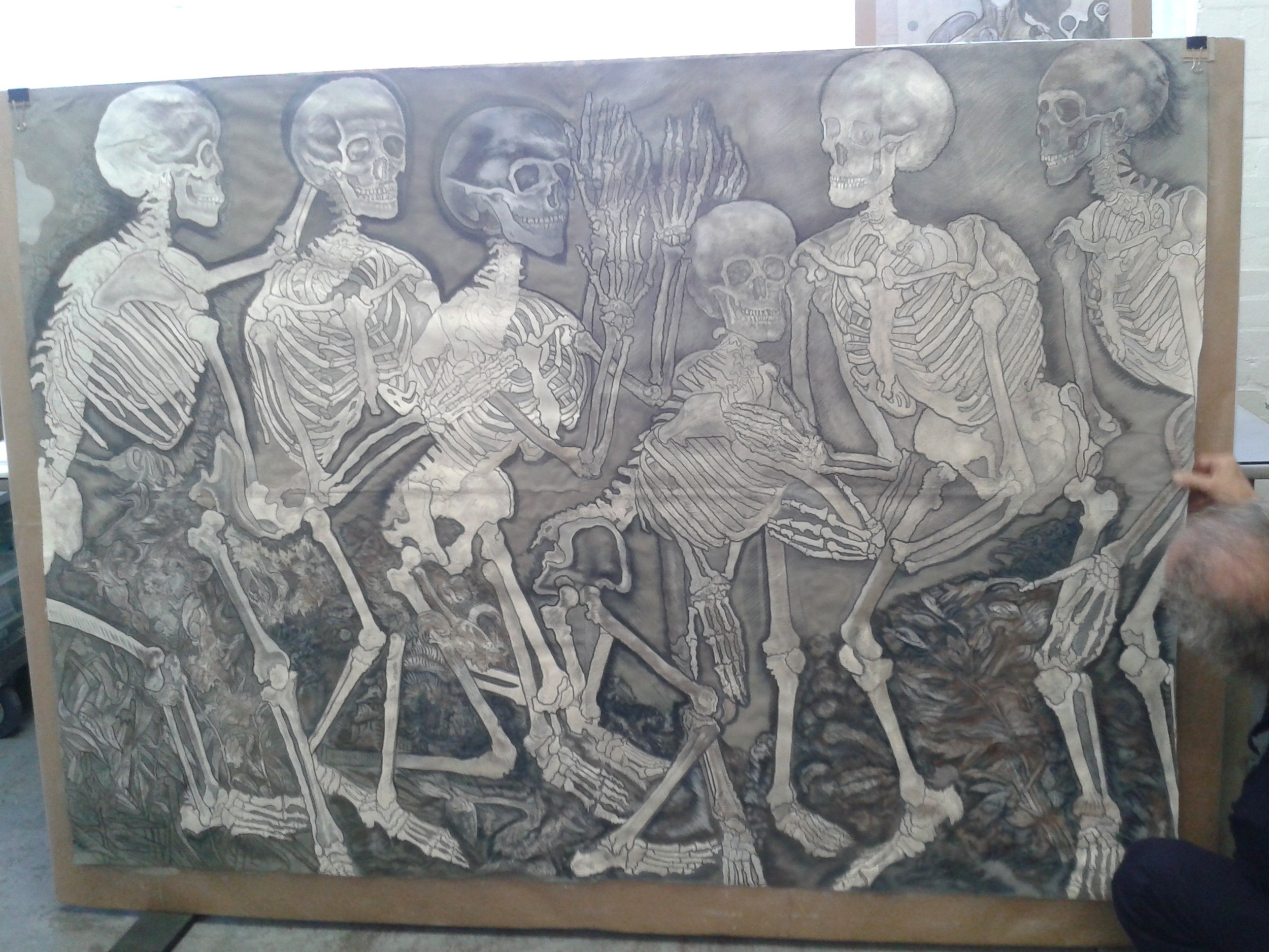 A Battle of Skeletons  before treatment.