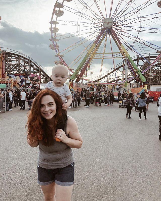 Logan's first time at the fair!