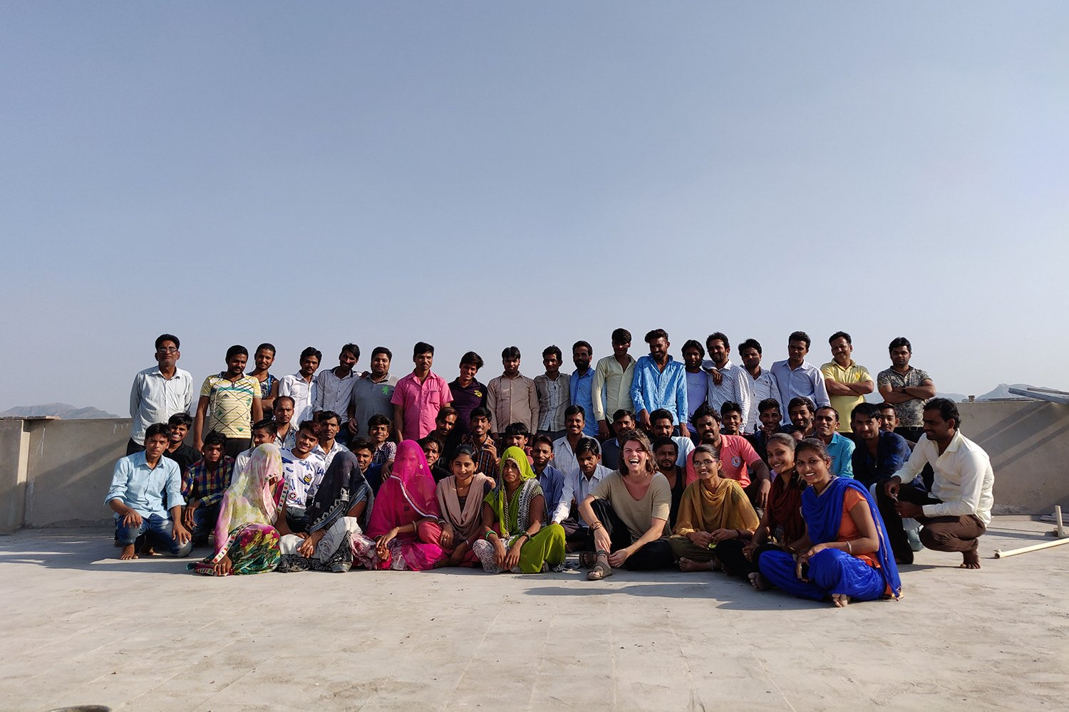 Lucy & the team in India