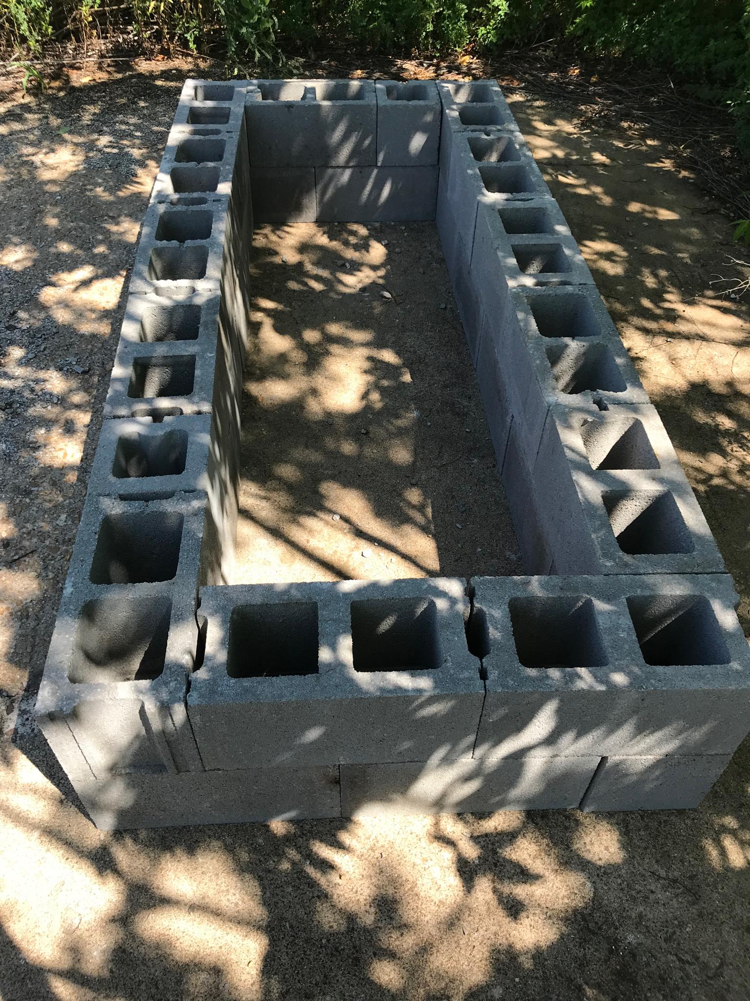 - Cinder block worm bin
