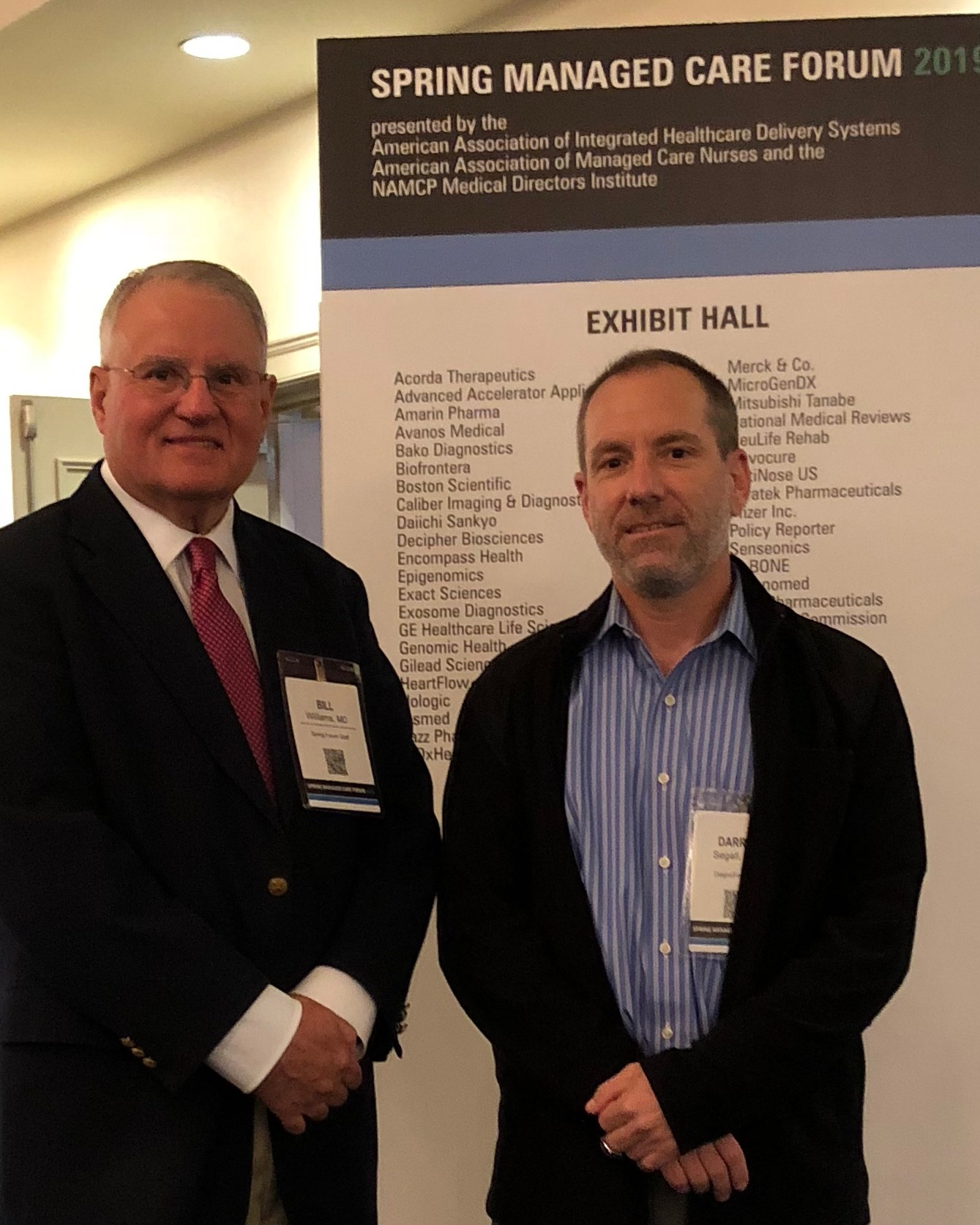 Collaborating with Industry Experts - NAMCP 2019Bill Williams, MD & Darron Segall, MHS