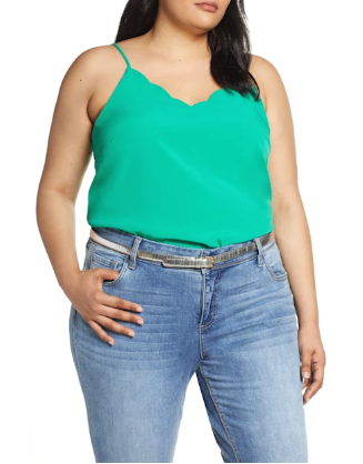 Hate this pic because it hides the BEAUTIFUL scalloped detail at the bottom. Ordering this one in coral.