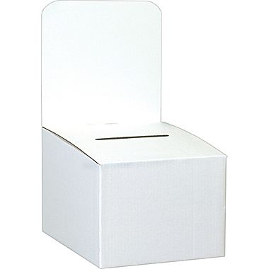 Pack of 10 Cardboard Ballot Boxes - great to split with a friend!