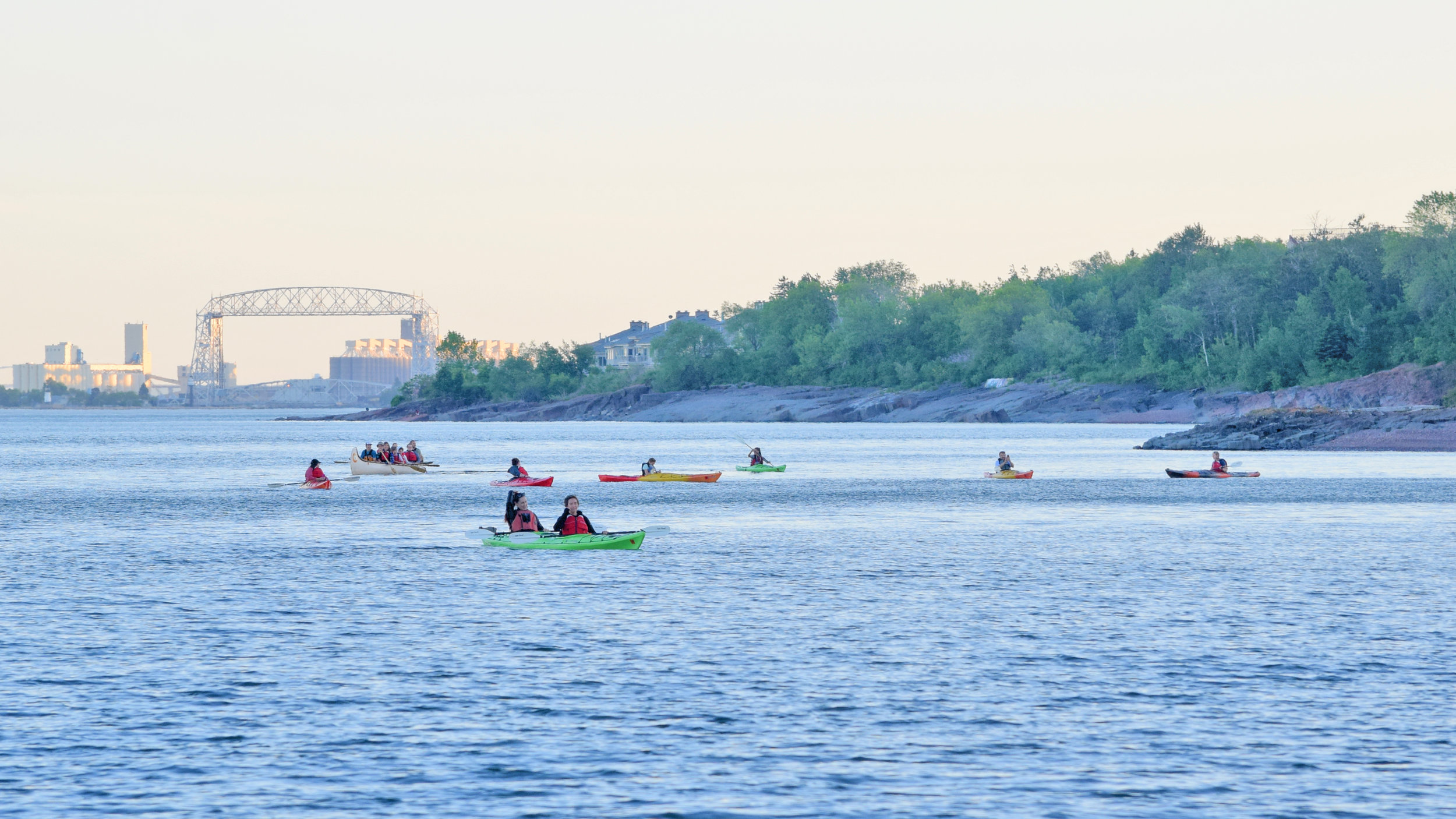 sunset canoe and kayak from glensheen.jpg