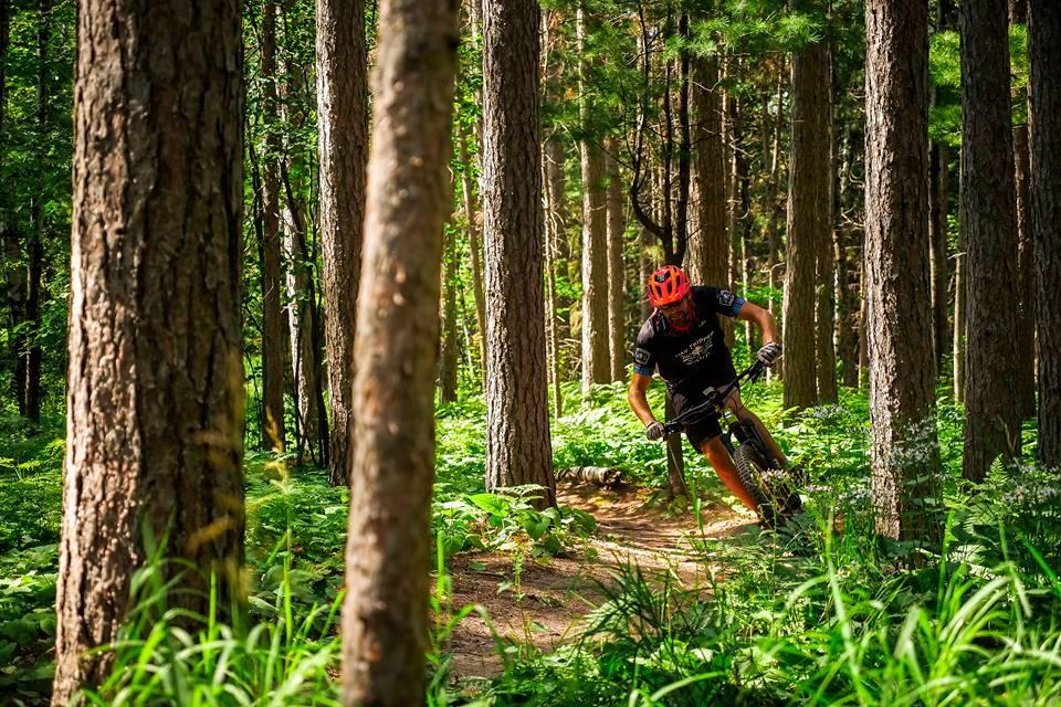 Photo: Brice Shirbach - Jake showing off the mountain bike trails to Pinkbike's Brice Shirbach