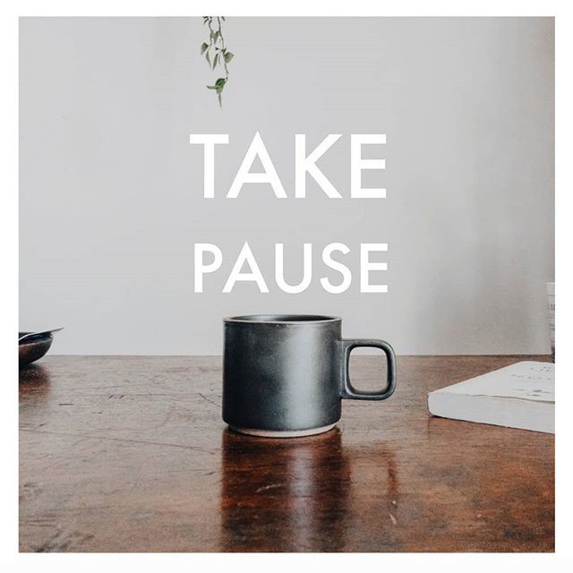 """Sunday contemplation on mindfulness. So much of our day is spent running from task to task and thing to thing. If we don't intentionally choose to get a read on ourselves, it's easy to just continue on down the road of doing instead of being.  Try """"TAKING PAUSE"""" a couple of times during your day and see what you find. I recommend first thing in the morning, perhaps after lunch or mid-afternoon and then in the evening, before bed.  Simply sit + breathe and be in your body.  For many of us, this might feel really foreign. We might feel guilty for just sitting there. And not doing anything.  Ah, but there's the opportunity for a shift. In our thinking and in our simply BEING instead of always DOING. Choosing to take two or five or maybe even ten minutes and notice how you're feeling. Your breath is an easy thing to focus on because it's always with you.  And the beauty is the more you work with your breath the more your breath will work with you. Don't let yourself become discouraged if this exercise DRIVES YOU NUTS when you first try it. It probably will. And that's okay.  This idea of simply sitting and breathing and noticing how you are, it's not something that most of us are naturally inclined to do, especially given the culture and climate in which we operate. If we're not doing, we're not any good.  Getting clear on how we're feeling during our day is the first step in becoming more intentional about how we actually want to feel during our day.  It's possible to make choices (including super small ones, like this) that will lead to greater peace and tranquility . . . which is likely to lead to greater productivity and . . . maybe even happiness.  Becoming more self-aware is the first step toward greater well-being. It's the first step toward YOU CHOOSING YOU instead of the millions of things that will always be swirling about.  You can choose YOU anytime you feel like it. Choosing you a few times a day might seem hard at first, but I invite you to try it.  You mi"""