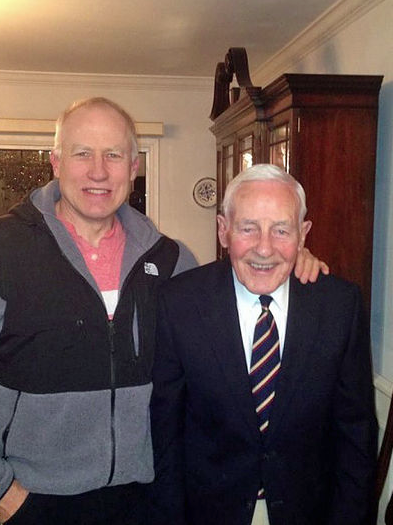 Dean with Peter Berrington in March of 2015