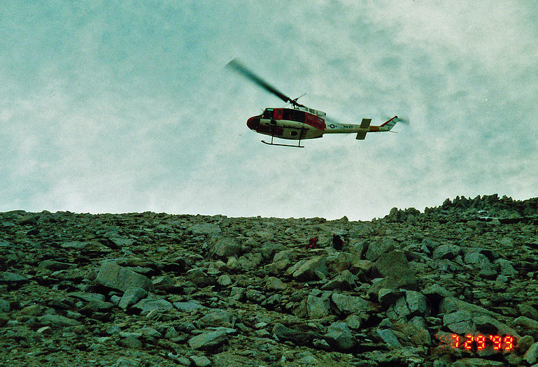 Fallon NAS helicopter hovering over Peter Berrington