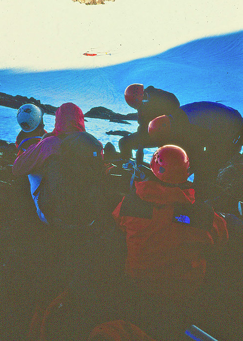 Dean & others at avalanche scene