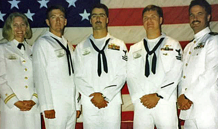 The helicopter crew that saved Dean's life in the Walker flood