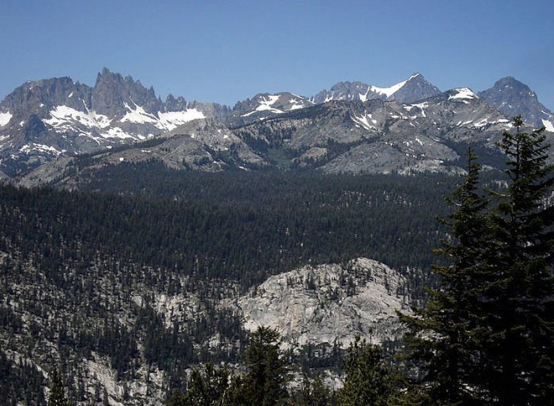 A view of the Ritter Range, the search area for Matthew Greene