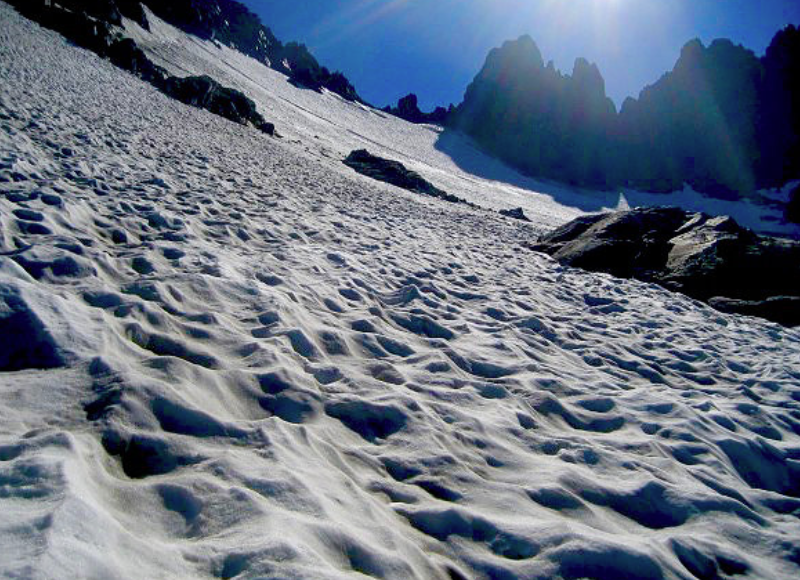 The East Glacier of Mt. Ritter