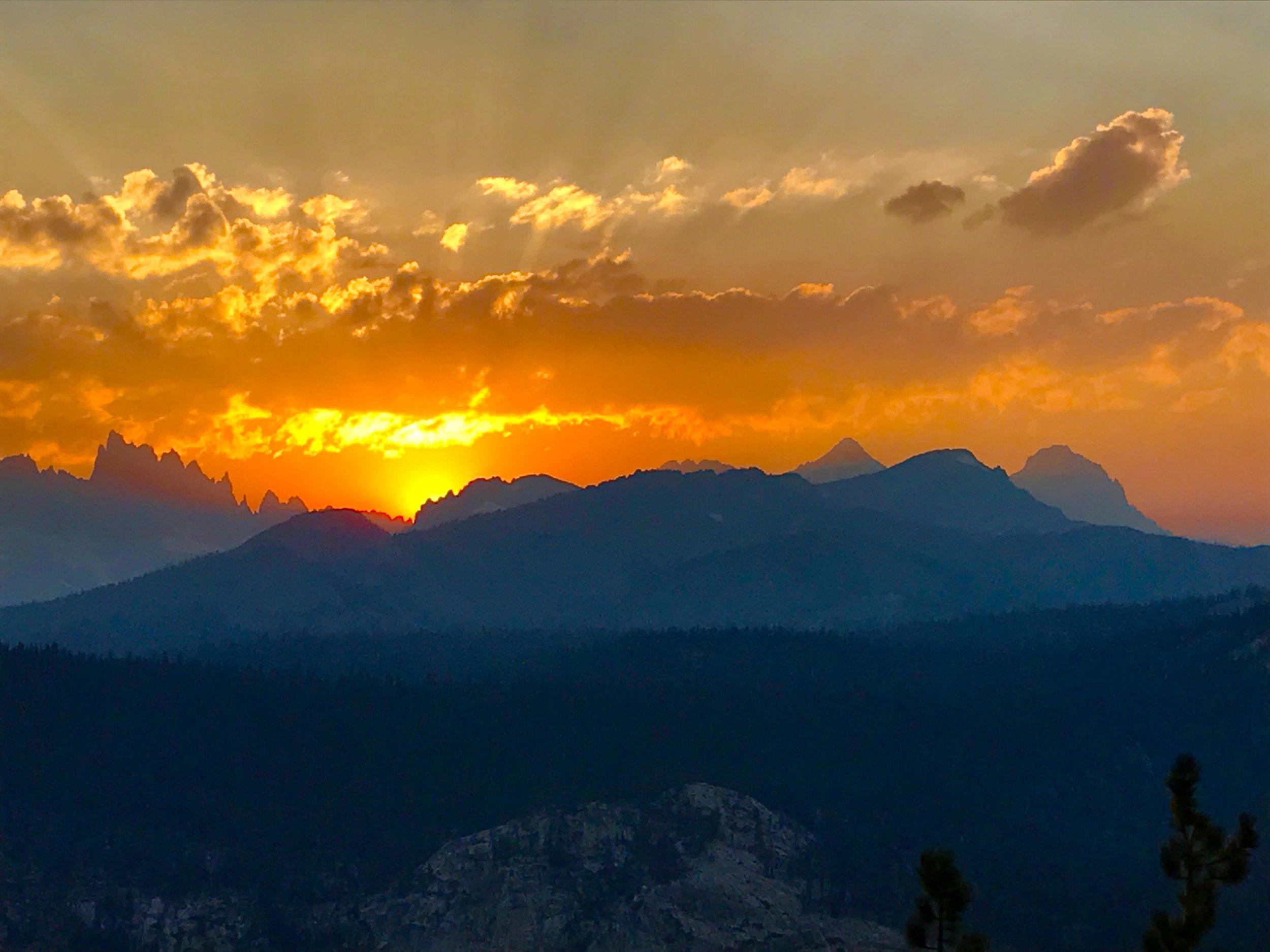 Sunset over the Ritter Range