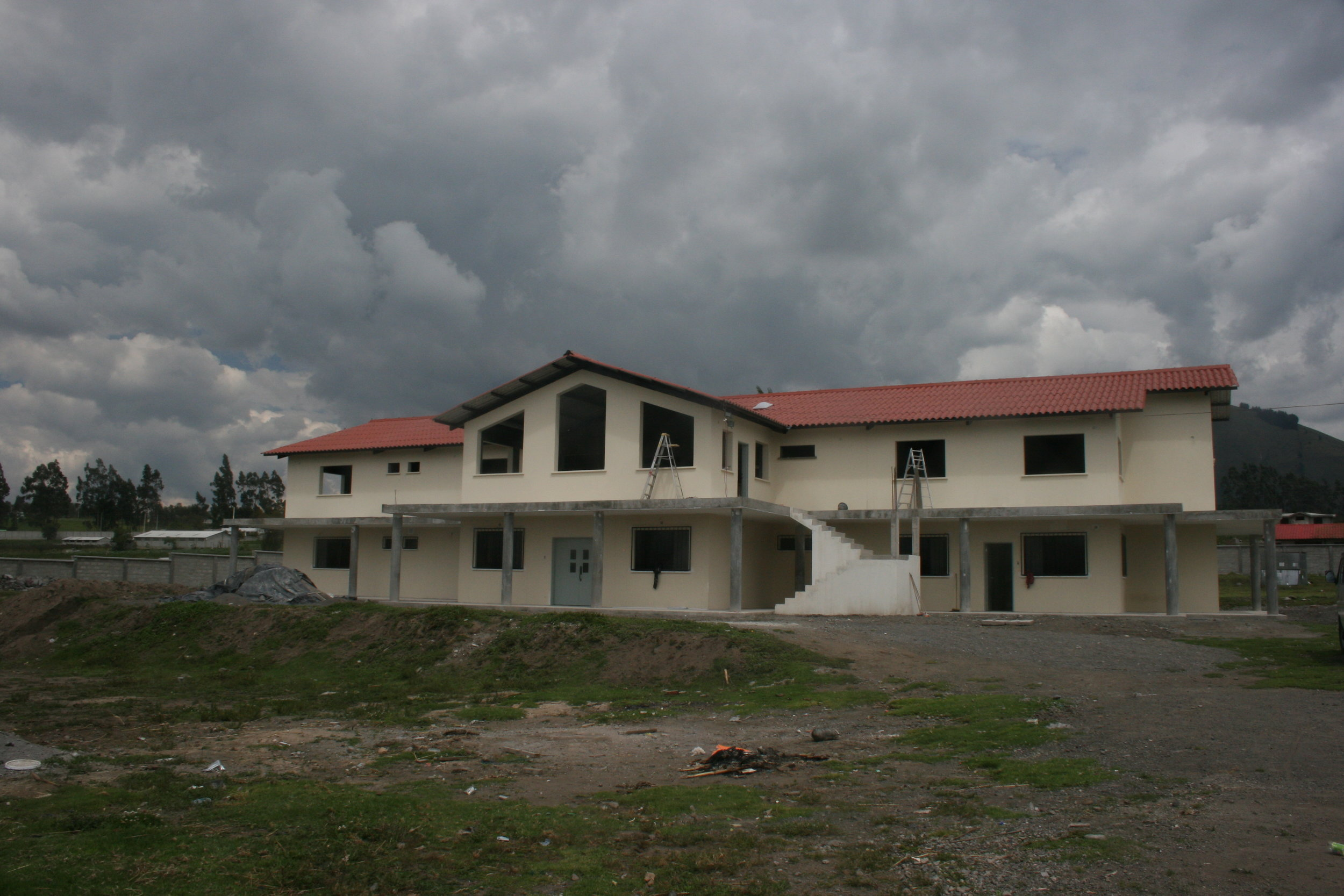 The 11,000 ft. home Dean designed, under construction in Latacunga, Ecuador
